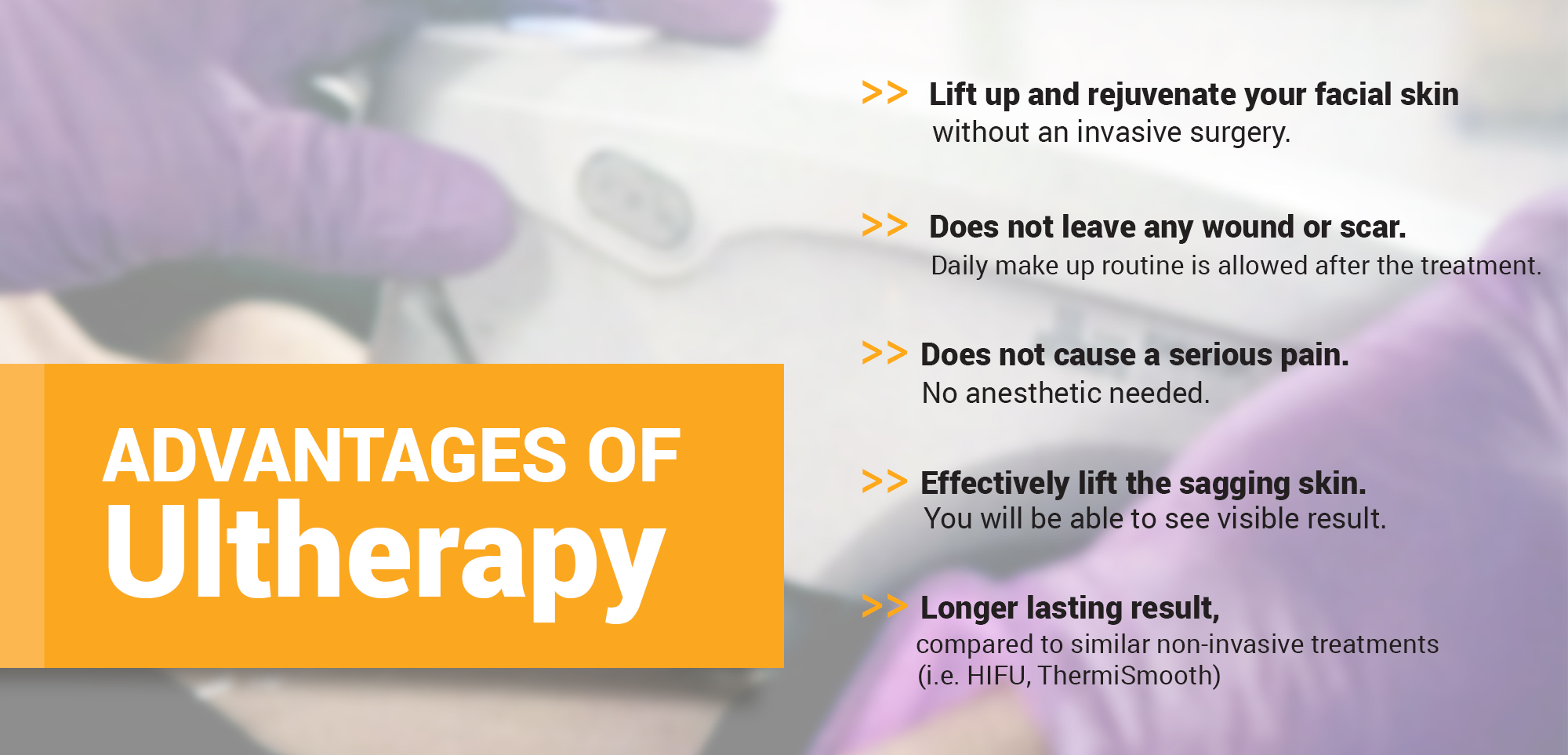 Adventages of Ultherapy