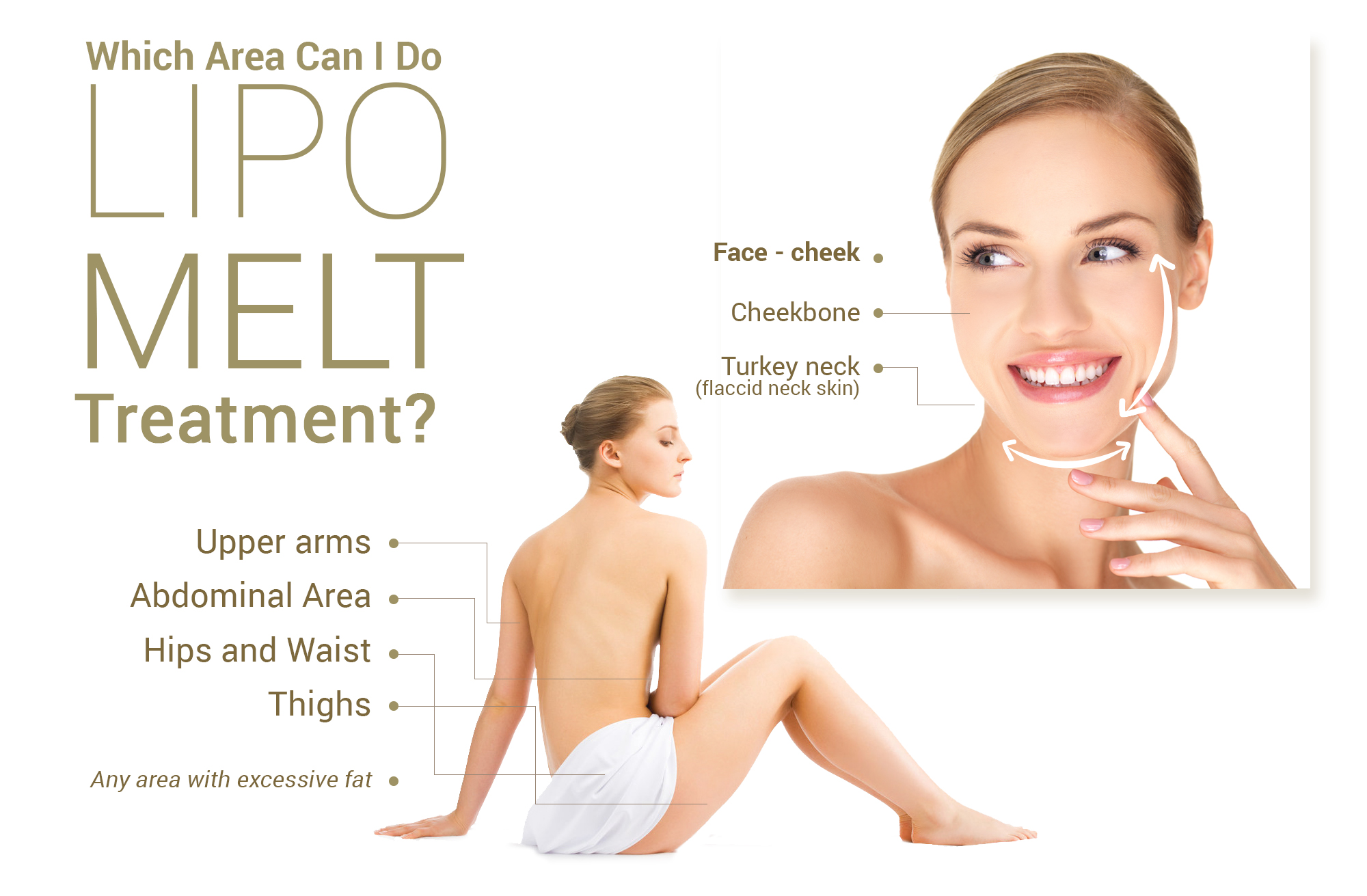 Which area can I do Lipo Melt Treatment